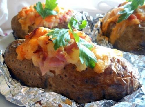фаршированный запеченный картофель рецепт фото