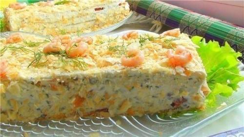 Закусочные торты рецепты с фотографиями
