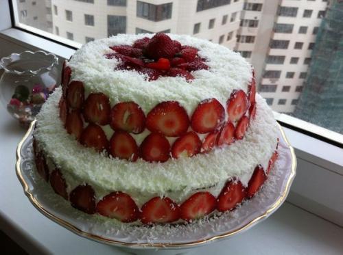 Торт клубничный с фото