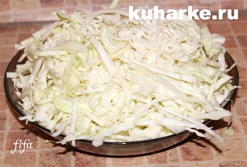 Как приготовить тушеную капусту в мультиварке редмонд