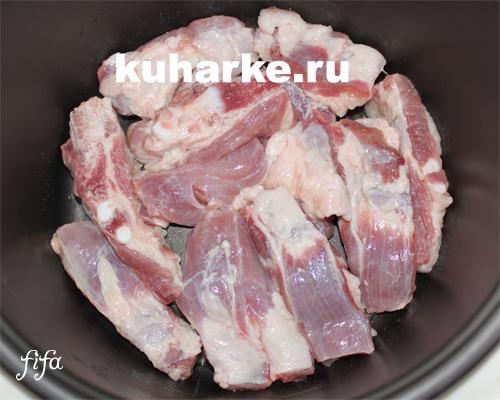 как приготовить свиные ребрышки в мультиварке панасоник