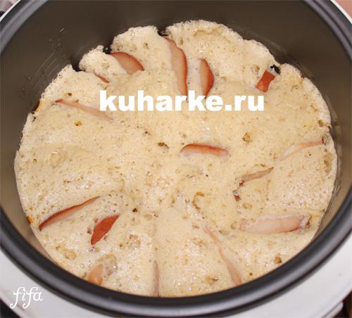 как приготовить шарлотку с грушами в мультиварке