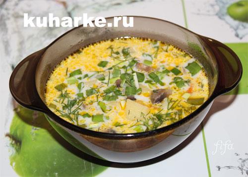 Суп из шампиньонов в мультиварке рецепты с